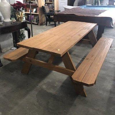 Pine Picnic Table #YEL