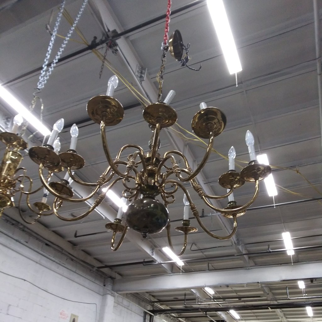 Brass Hanging chandelier#YEL