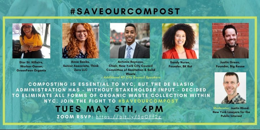 #SaveOurCompost Town Hall Tuesday May 5th