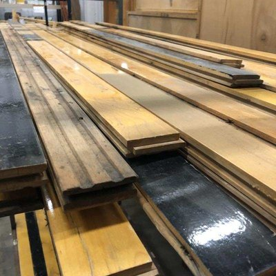 Salvaged Maple Gym Flooring
