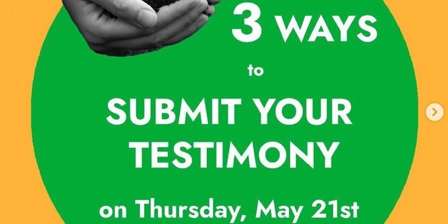 Submit your compost testimony 5/21 - 5/26!!