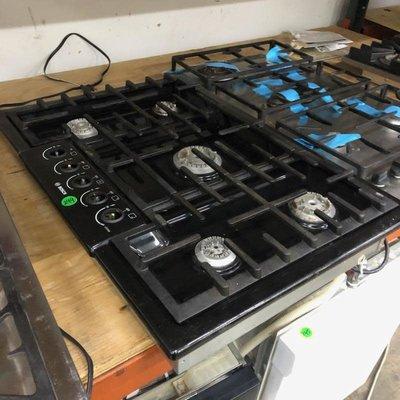 Black Bosch Gas Cooktop