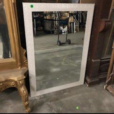 White Mosaic Style  Mirror