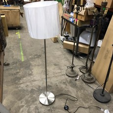 Brushed Nickel Stick Floor Lamps