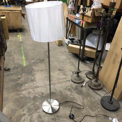 Brushed Nickel Stick Floor Lamps