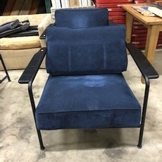 Plush Blue Reception Lounge Chair