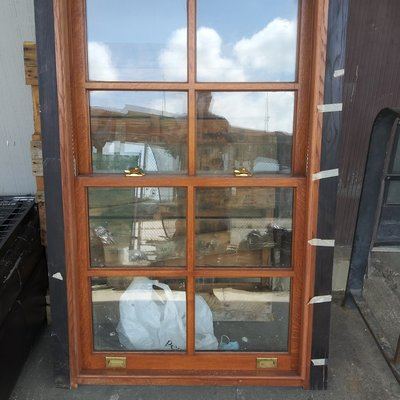 Vintage Tiger Oak Window