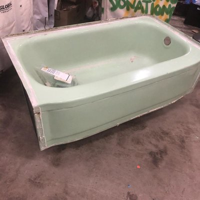 Vintage Mint Green Tub