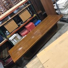 Vintage Tiger Oak Wiseman's Table