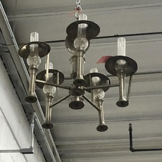 Brushed Nickel 5 Light Chandelier