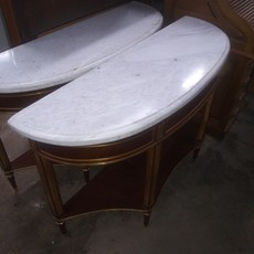 Vintage Marble Top Console Table