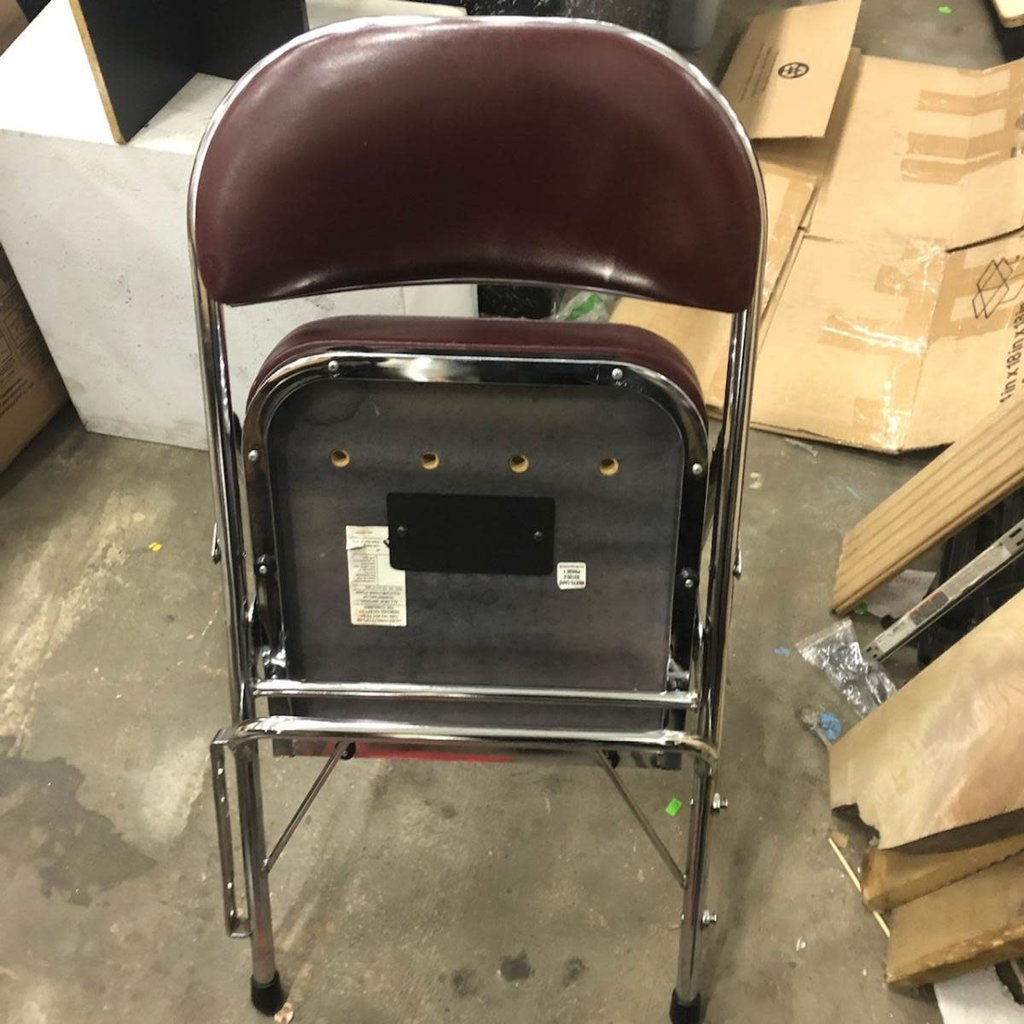 Burgundy Auditorium Foldable Chairs