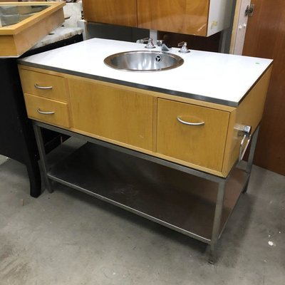 Freestanding Vanity with Stainless Steel Sink