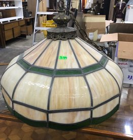 Antique Stained Glass Pendant Light