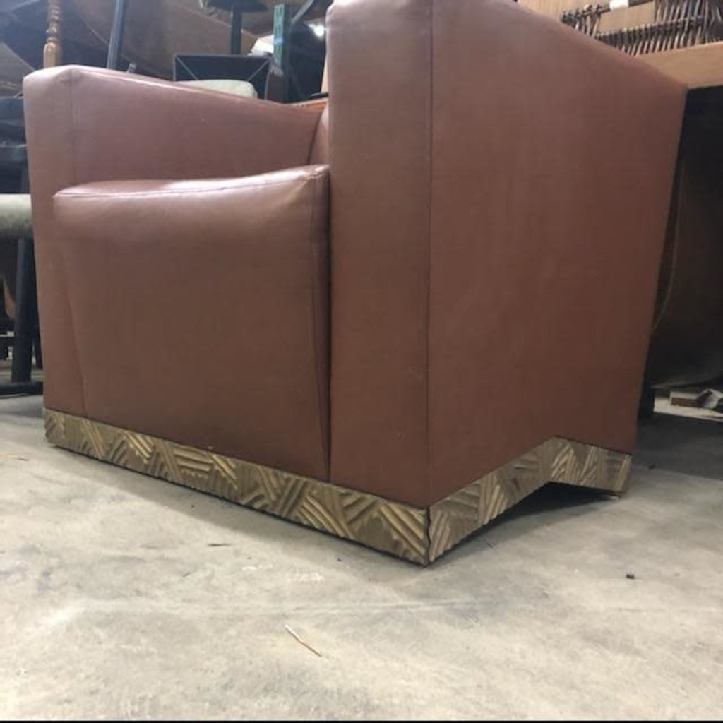 Designer Brown Leather Chair