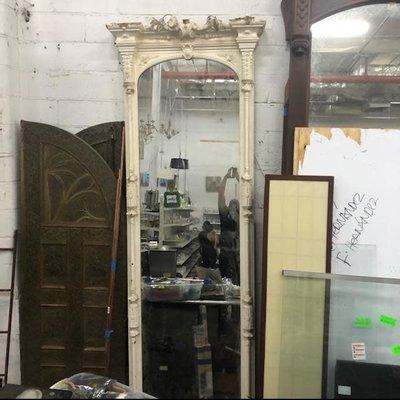 White  Gothic Mirror