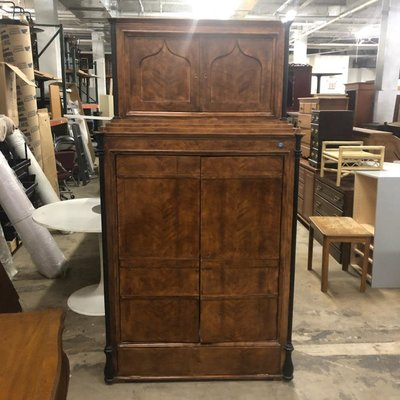 Antique Tiger Maple Hutch