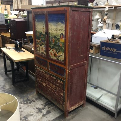Vintage Handpainted China Cabinet