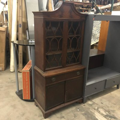 Vintage Dark Oak Hutch