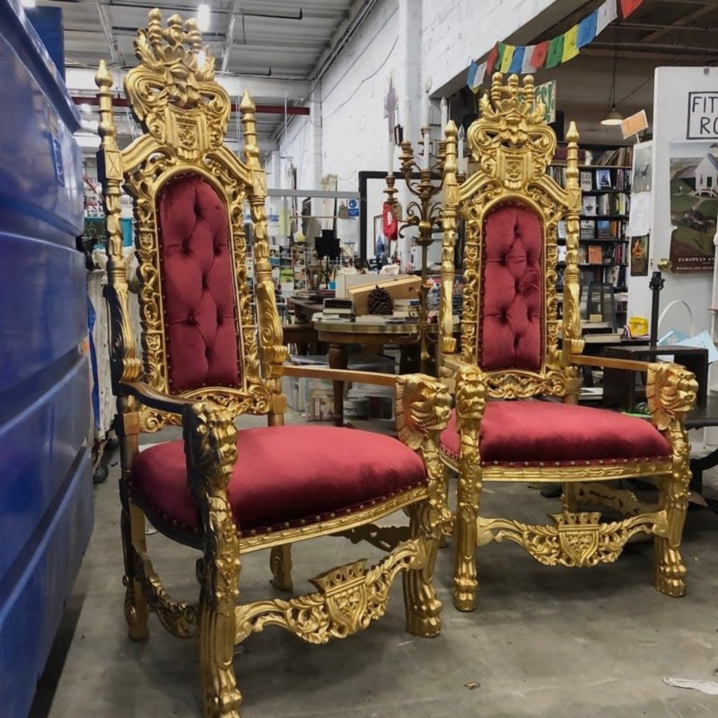 Gothic Ornate King Armchair