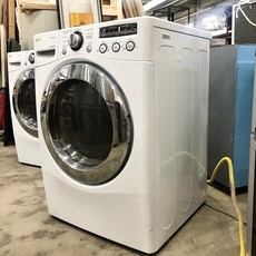LG - SteamDryer 7.3 Cu. Ft. 9-Cycle Ultra Large Capacity Steam Gas Dryer - White