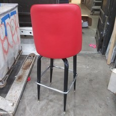 Red Leather Bar Stools