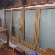 Andersen 4 Panel Frenchwood Gliding Patio Doors