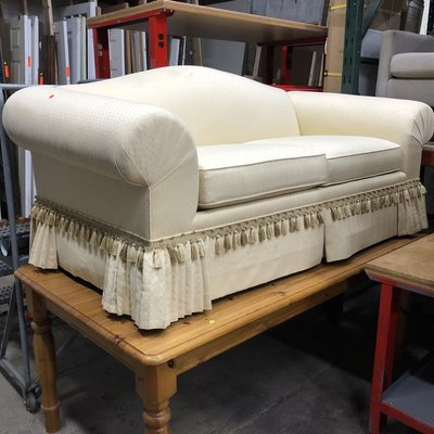 Ivory Upholstered Sofa