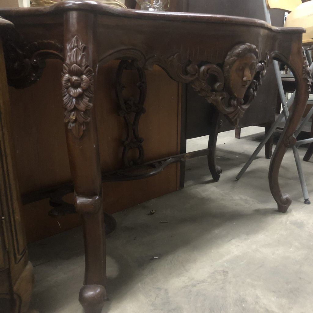 Vintage Wood Console Table