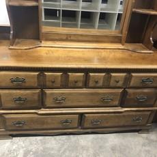 Tiger Maple Dresser & Vanity #BLU