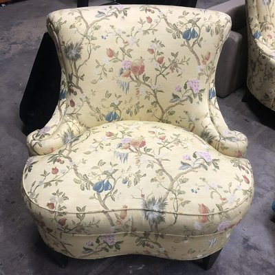 Floral Lounge chair by Hickory Chair