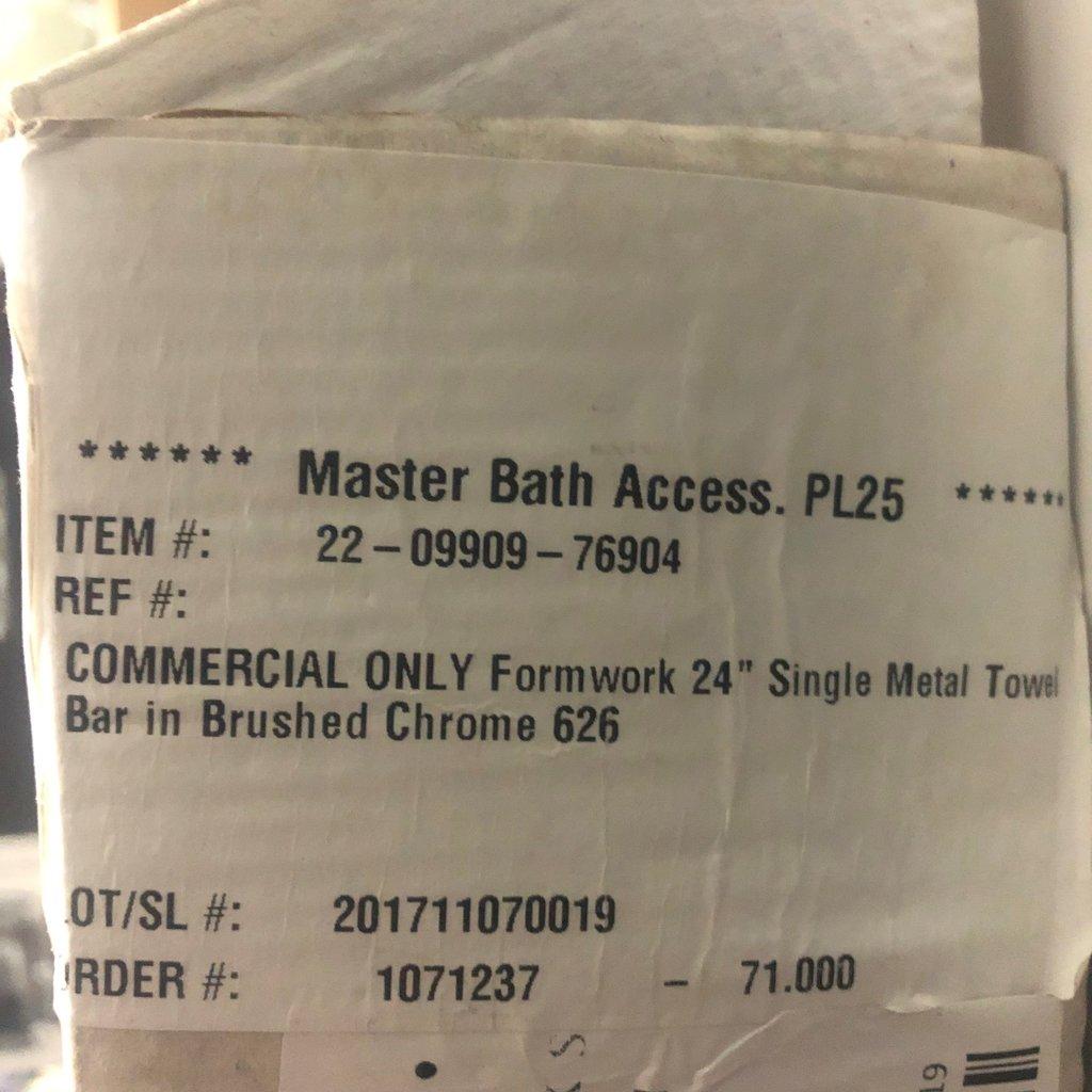 Single Metal Towel Bar by Waterworks