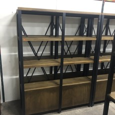 Wood and Metal Bookcase #ORA