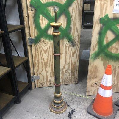 Green Wooden Floor Lamp #YEL