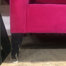Hot Pink Velvet Couch
