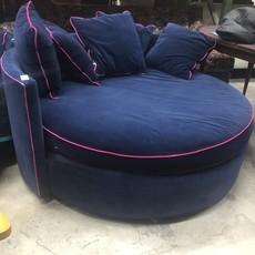 Navy Blue Circular Sofa #GRE
