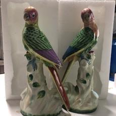 Handpainted Porcelain Parrot Figurine