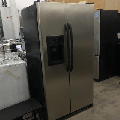 GE CleanSteel™ Side-By-Side Refrigerator with Dispenser