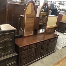 Double Mirror Vanity Dresser