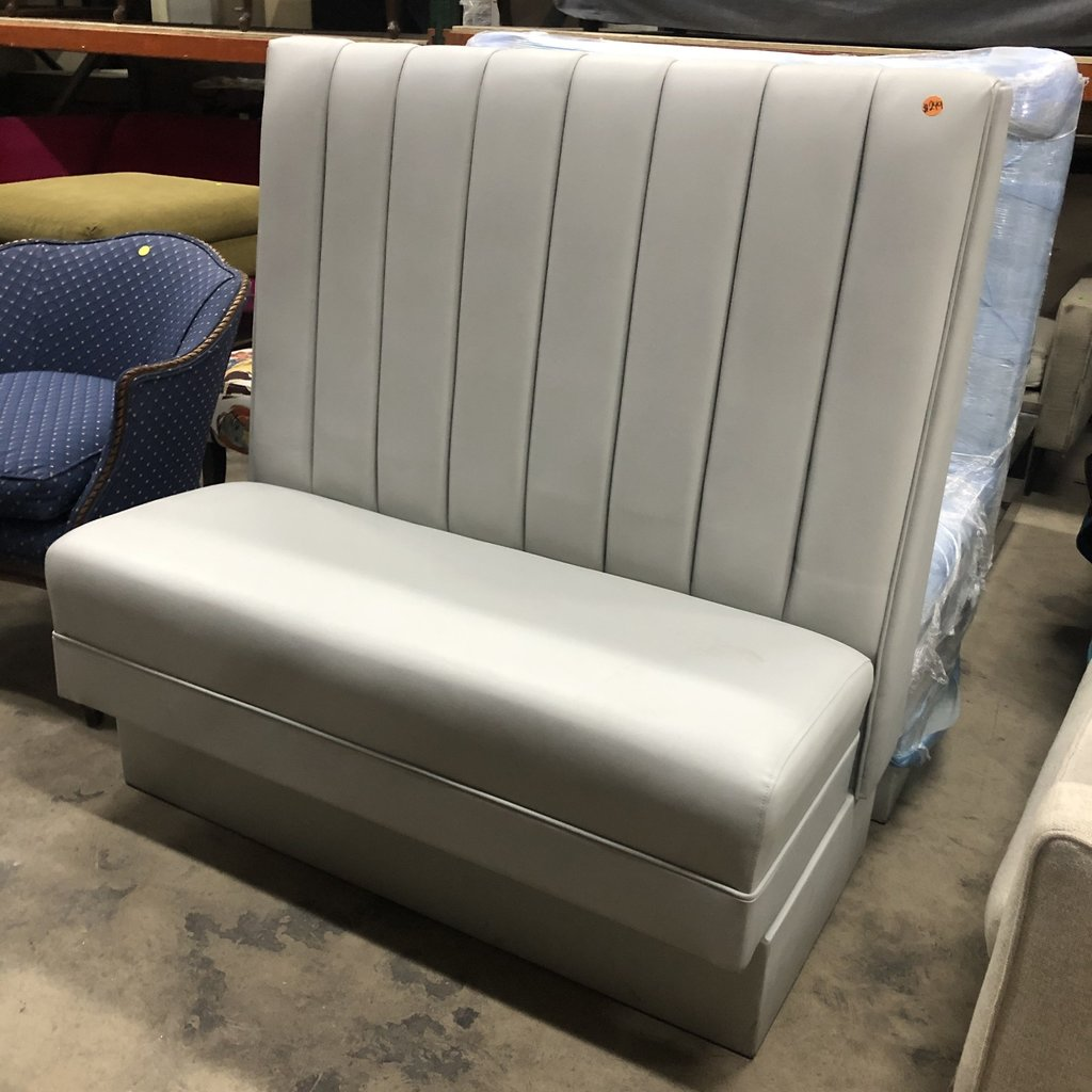 Gray High-Backed Booth Seating