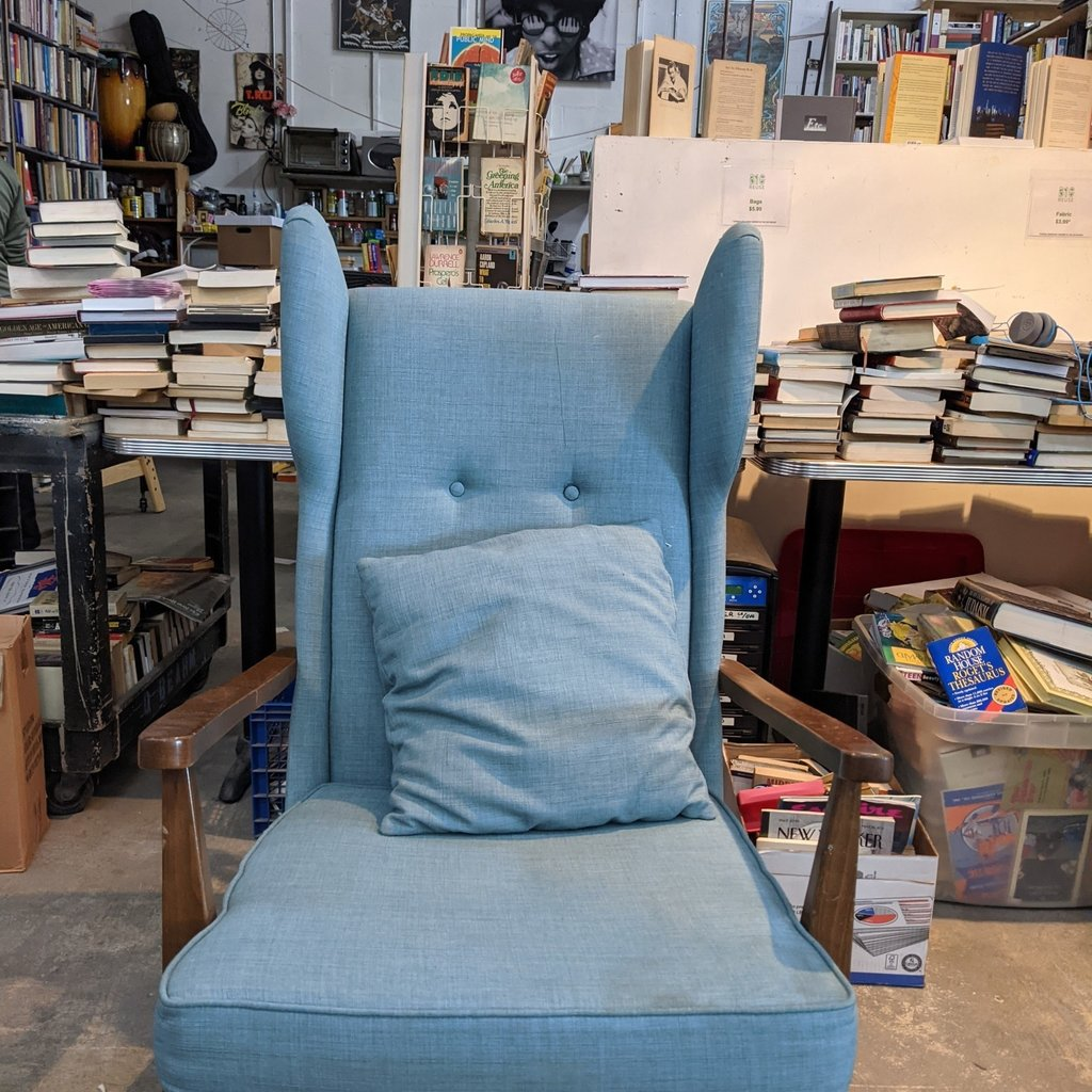Blue Winged Armchair