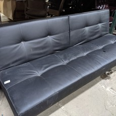 Faux Leather Convertible Sofa