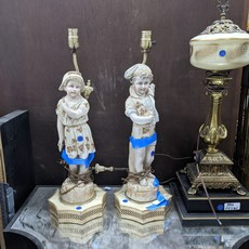 Porcelain China Figurine Lamps