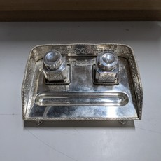 Vintage Silver-plated Inkwell Set by International Silver Company