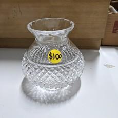 Crystal Glass Irish Candle Holder & Lamp