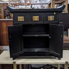 Decorative Black Lacquer Nightstand