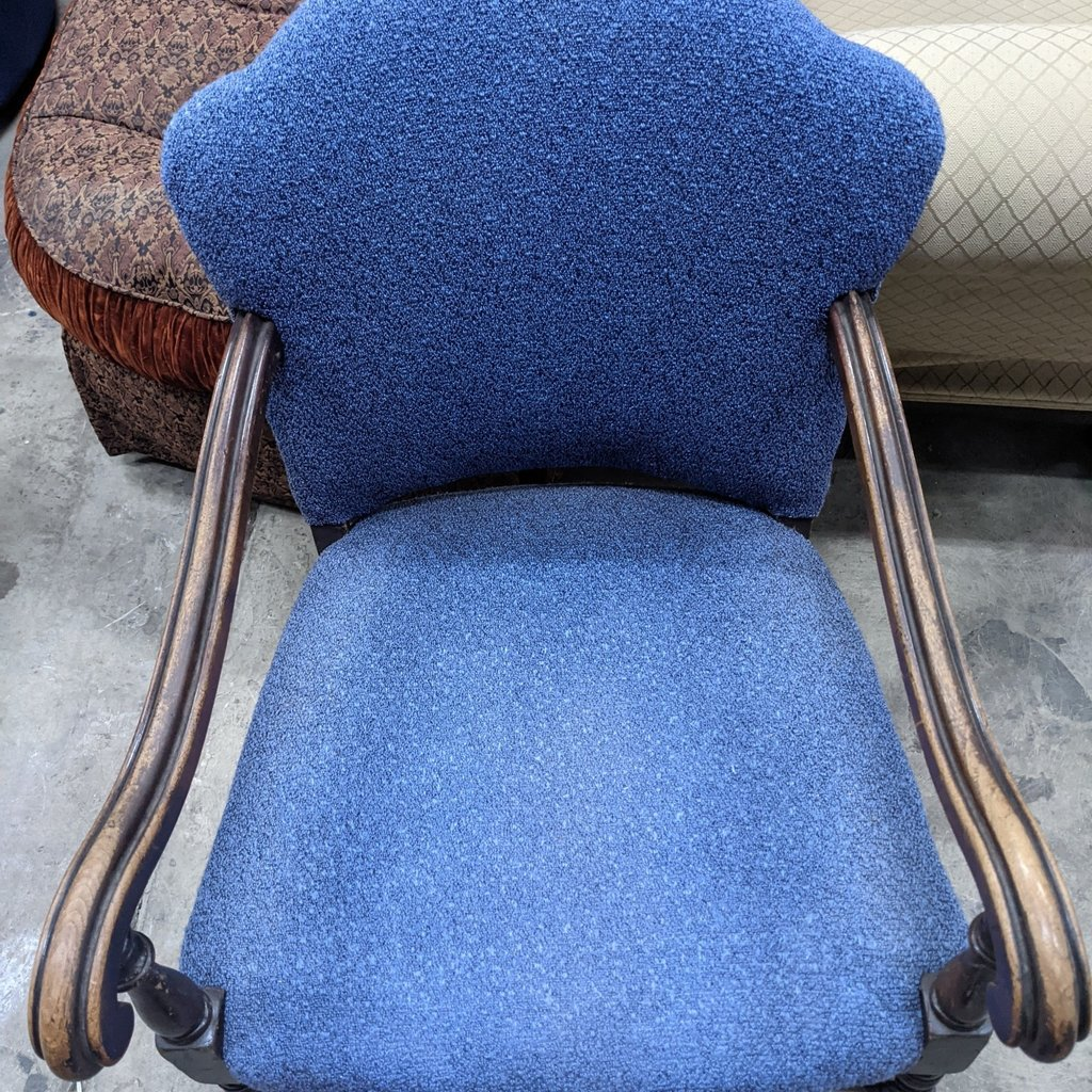 Blue Armchair - Textured