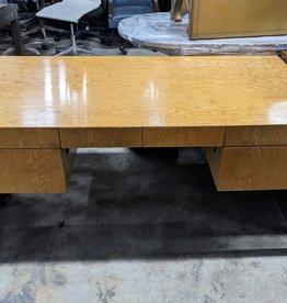 Glazed Wood Large Desk