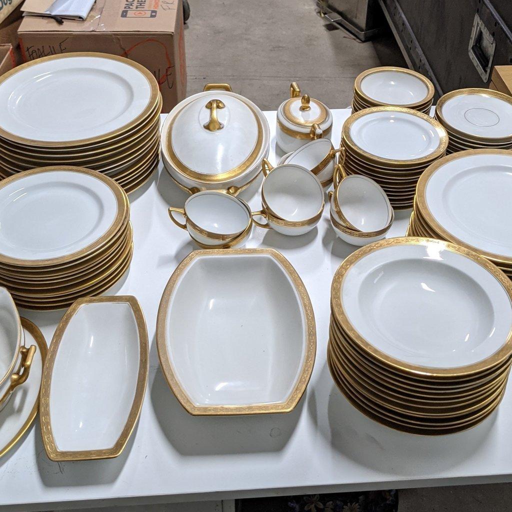 Rosenthal China Gold Encrusted Band 95 pcs