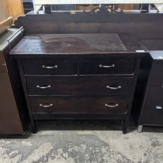 4 Drawer Dark Wood Dresser